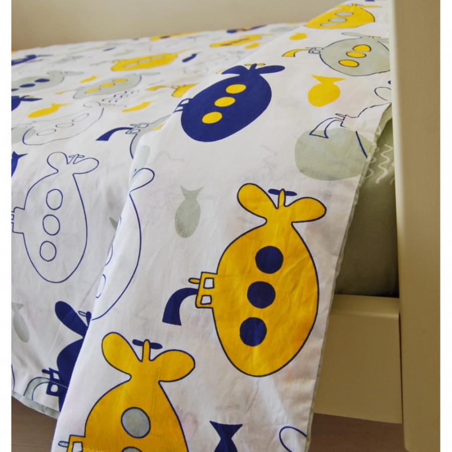 Комплект постельного белья для кроватки 160*80 «Подводное плавание»