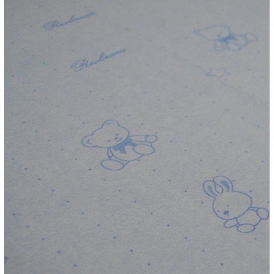 """Непромокаемая простыня на резинке """"Мишка и зайка"""""""