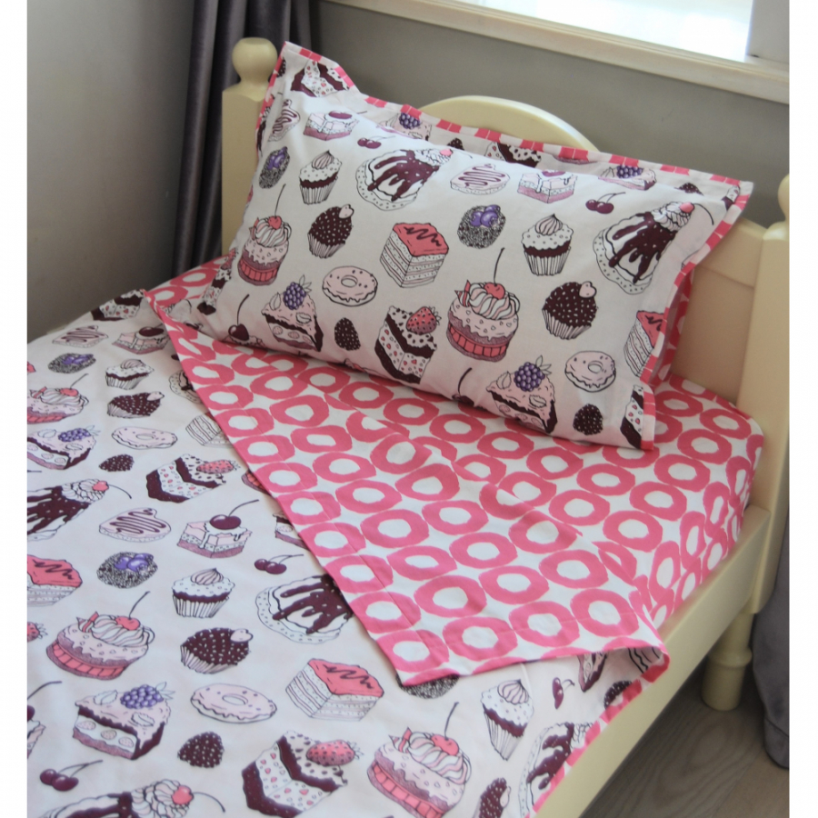 Комплект постельного белья для кроватки 160*80 «Пирожные»