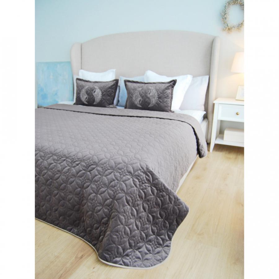 Подушка для сна с рисунком вышивки лаванда