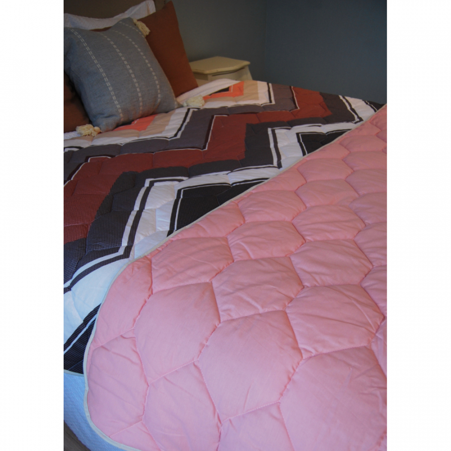 """Одеяло-покрывало,  двухстороннее """"Геометрия"""" бязь"""