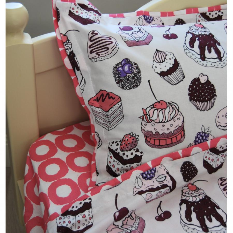 Комплект постельного белья 160*80 «Пирожные»
