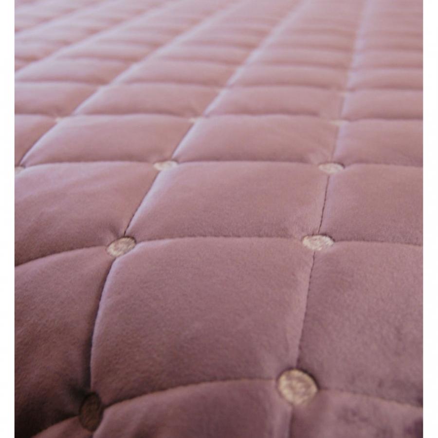 Покрывало бархат-велюр стёжка-вышивка в комплекте с подушками лиловое